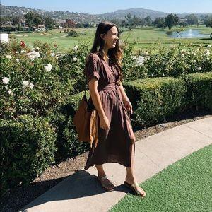 UO Gloria Midi Wrap Dress